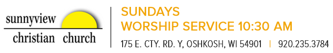 Sunnyview Christian Church, Oshkosh, Wisconsin - An independant church community.