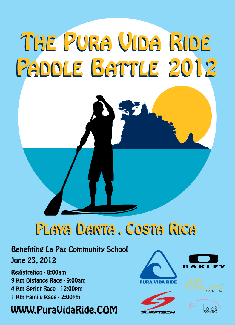 paddle battle 2012 print flyer