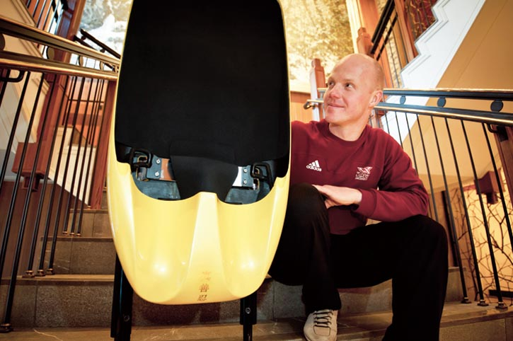 Rubenis designed and crafted almost every part of the sled that carried him to victory at world competitions.
