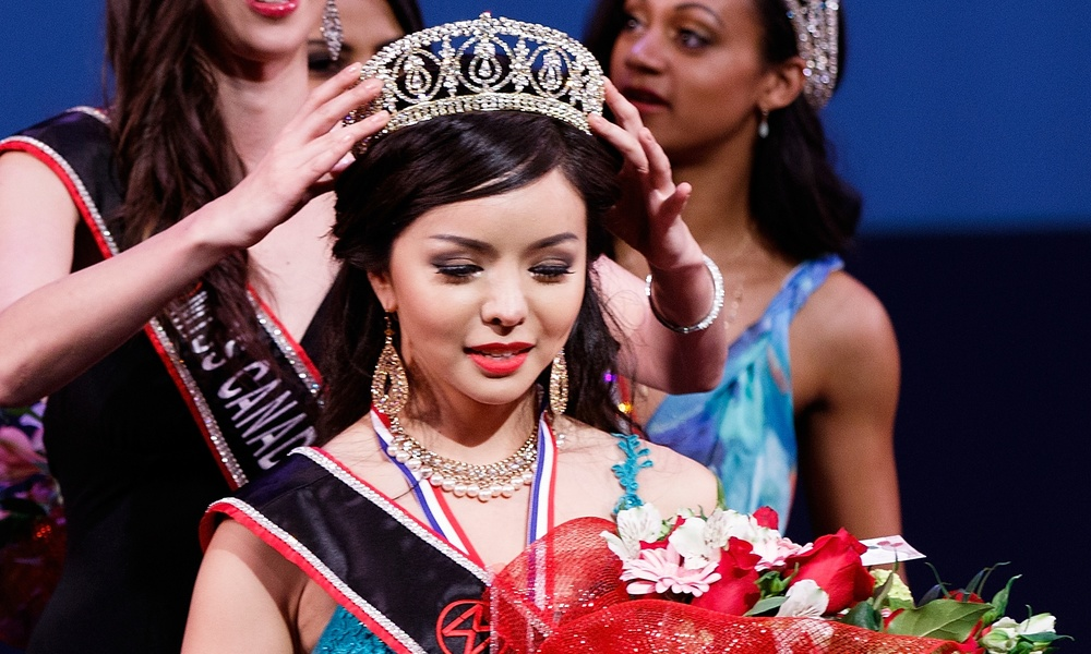 Anastasia Lin is crowned Miss World Canada 2015. Lin has revealed to the Guardian that she is a practitioner of Falun Gong. Photograph: Andrew Chin/Getty Images
