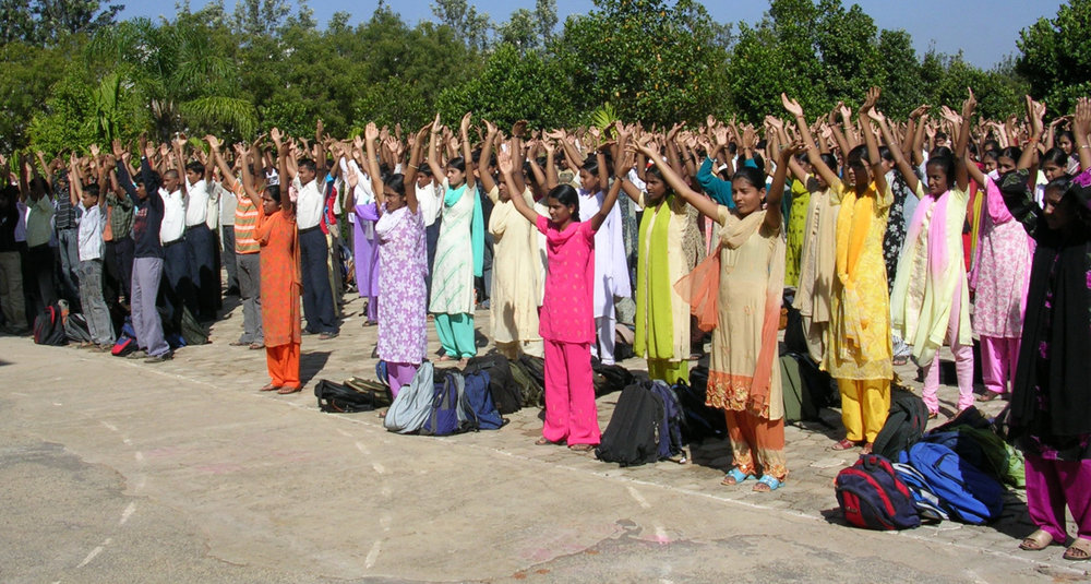 Falun Dafa practitioners in India.