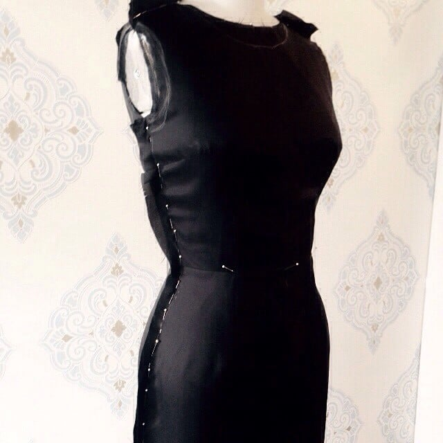 #Inprogress #fynapparel #draping #fitting #fashion #fashiondesign #black #dress #portlandfashion #portland