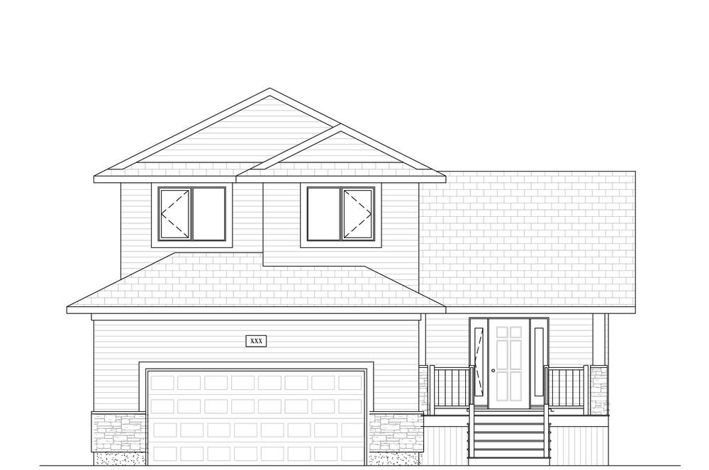 1642 Sq Ft. 38′ Wide 3 Bed / 2.5 Bath