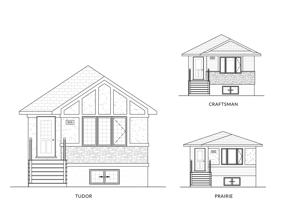 1069 Sq Ft. 20′ Wide 3 Bed Up / 2 Bed Down