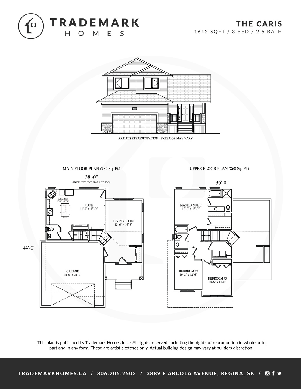 Trademark Homes The Caris 2 Storey