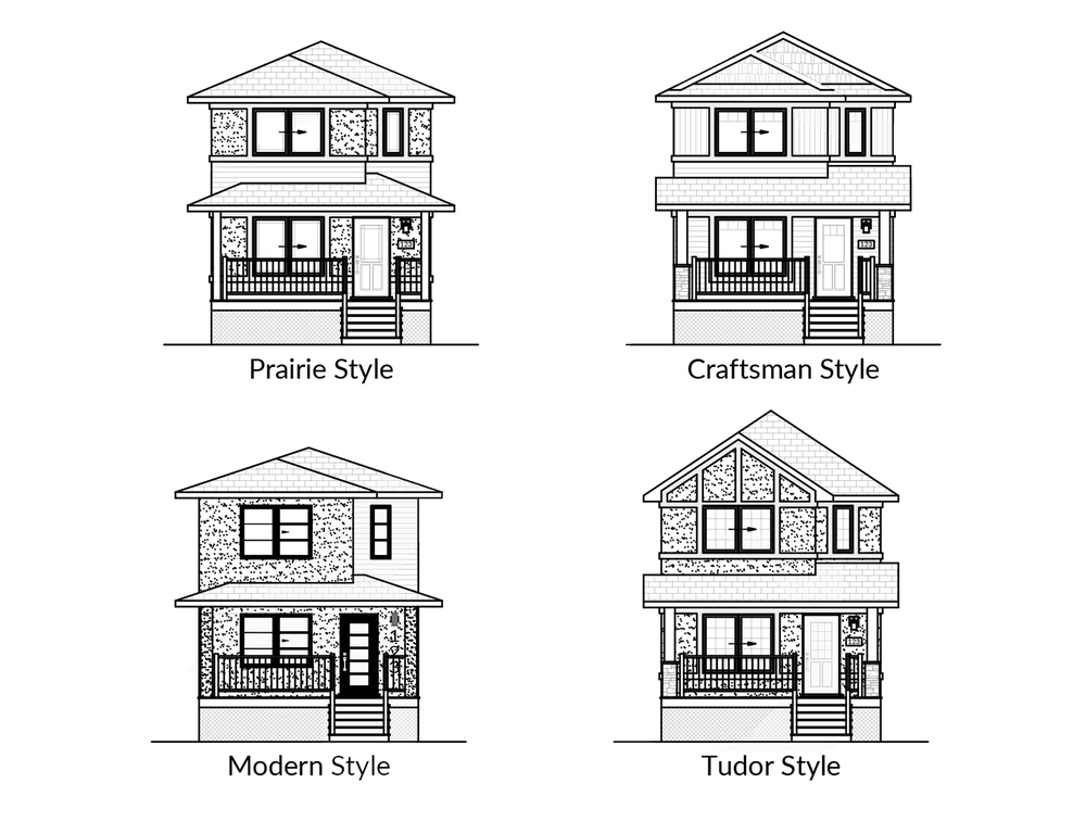 Starting at $195,000 +land & tax.  20′ Wide  3 Bed / 1.5 Bath  Optional Basement Dev.