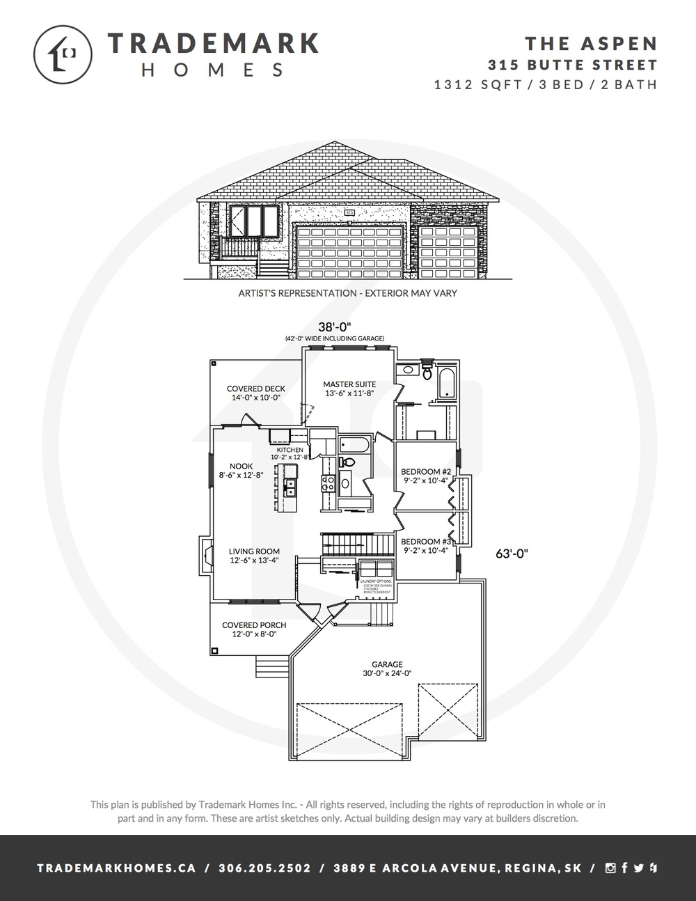 315 Butte St - The Aspen - Floorplan - Pilot Butte