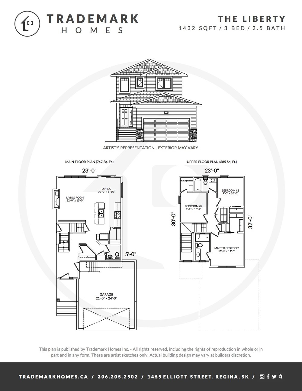 The Liberty - Floorplan - Regina Home Builder