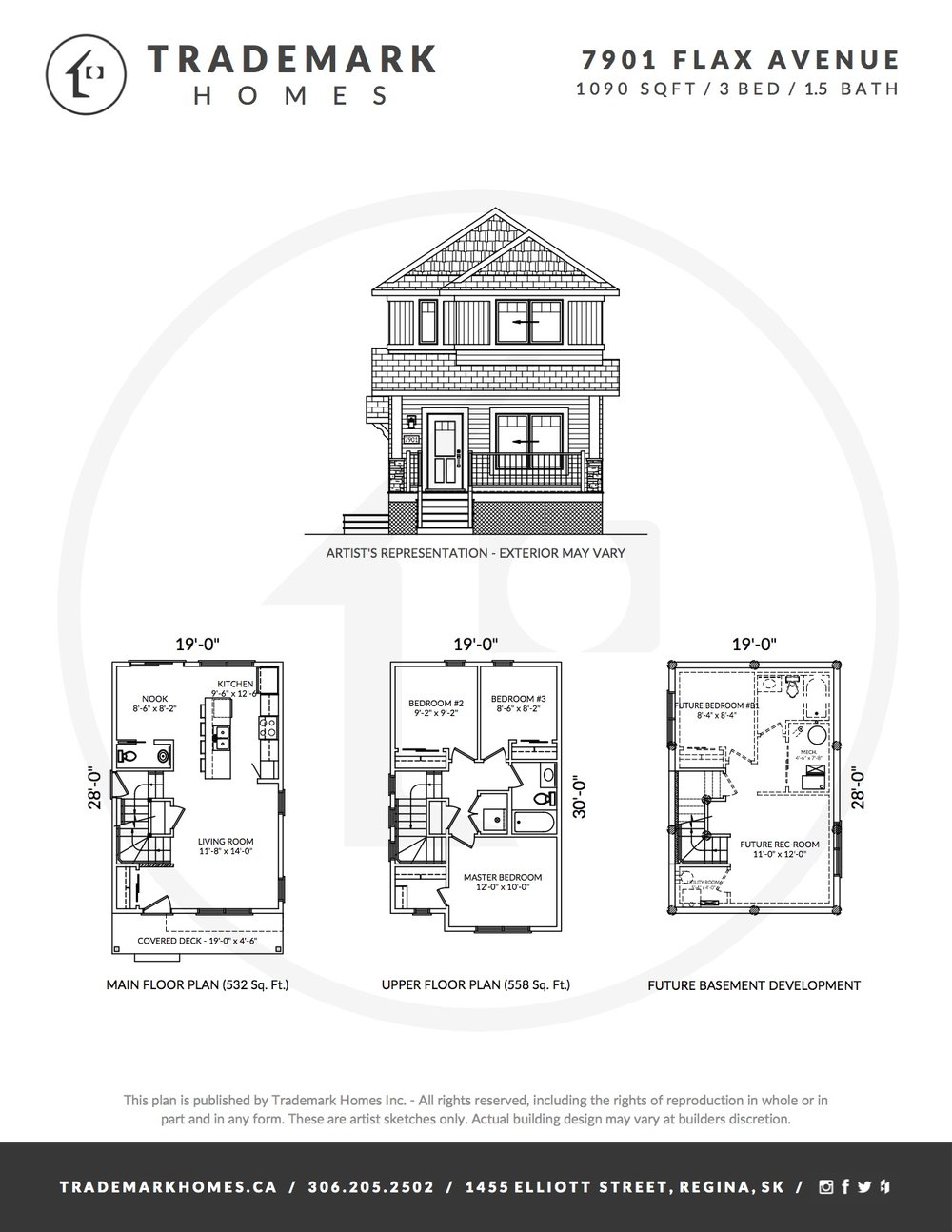 7901 Flax Ave - Westerra - Floorplan - Regina Home Builder
