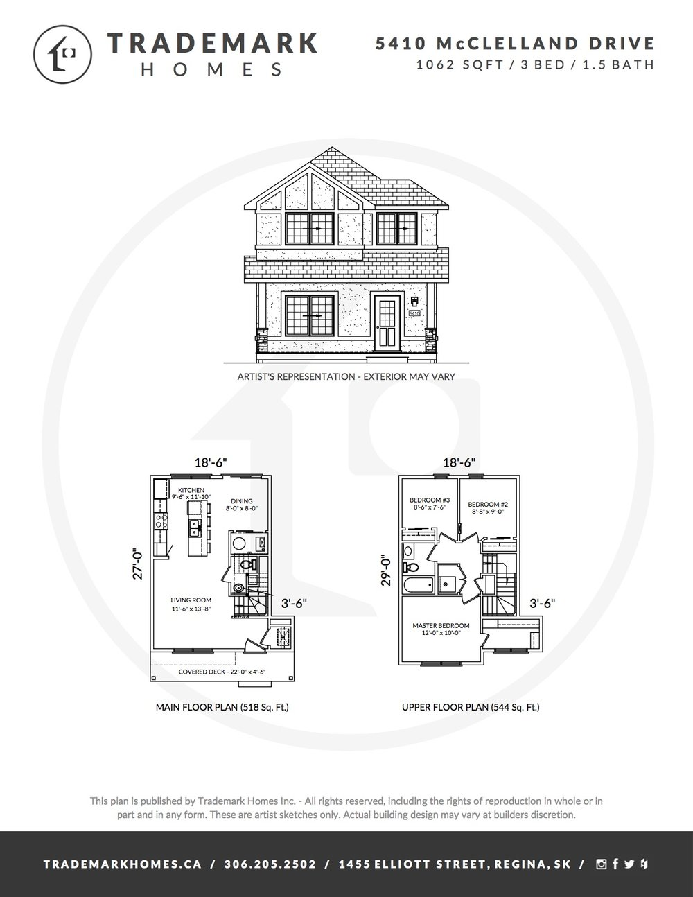 5410 McClelland Dr - Floorplan - Harbour Landing