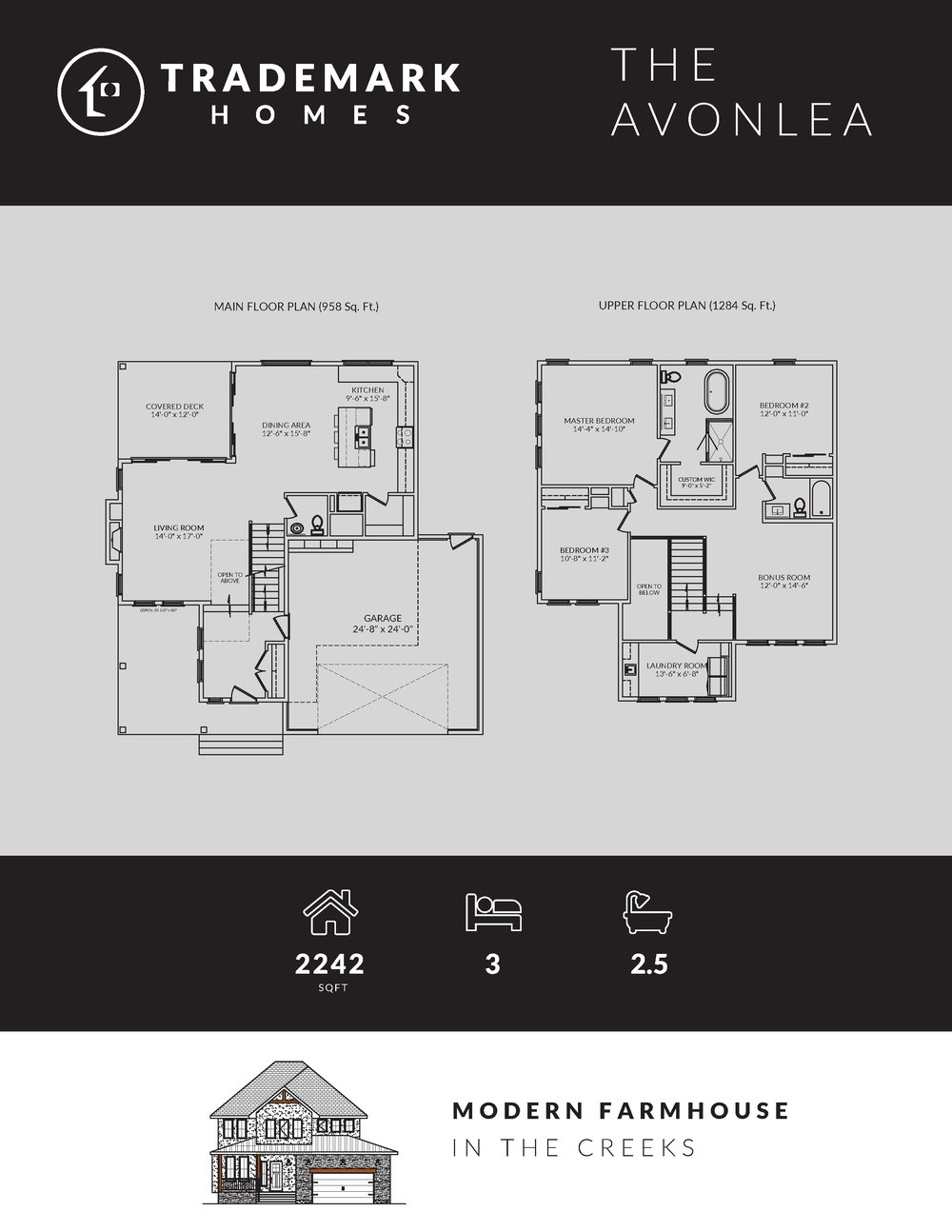 Trademark Homes Floor Plan The Avonlea
