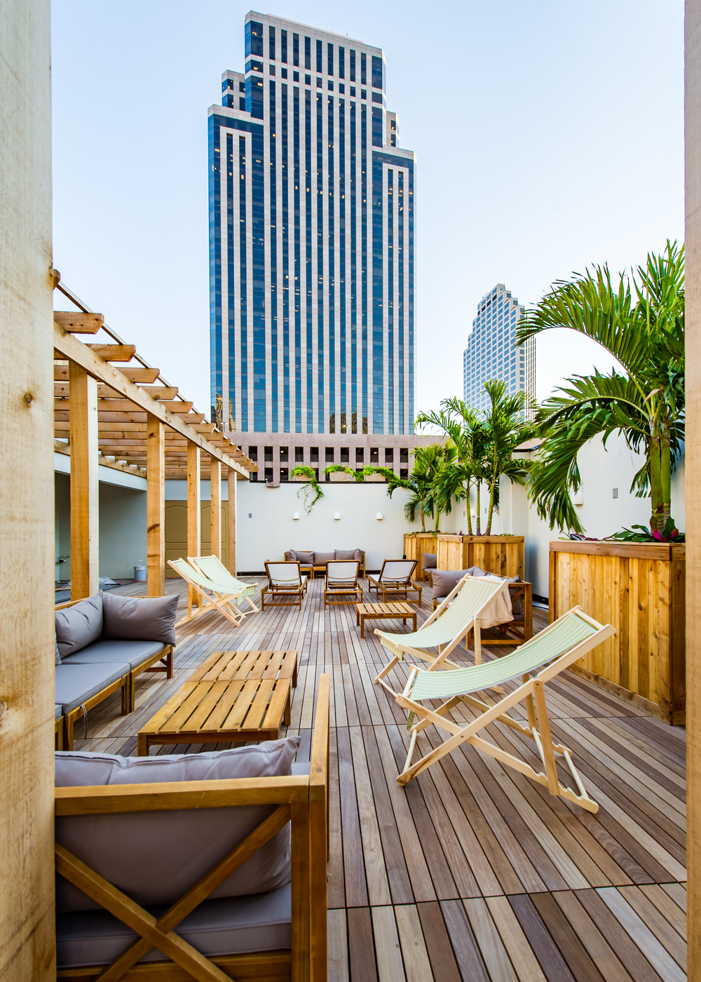 Rooftop Bar at Catahoula Hotel in New Orleans