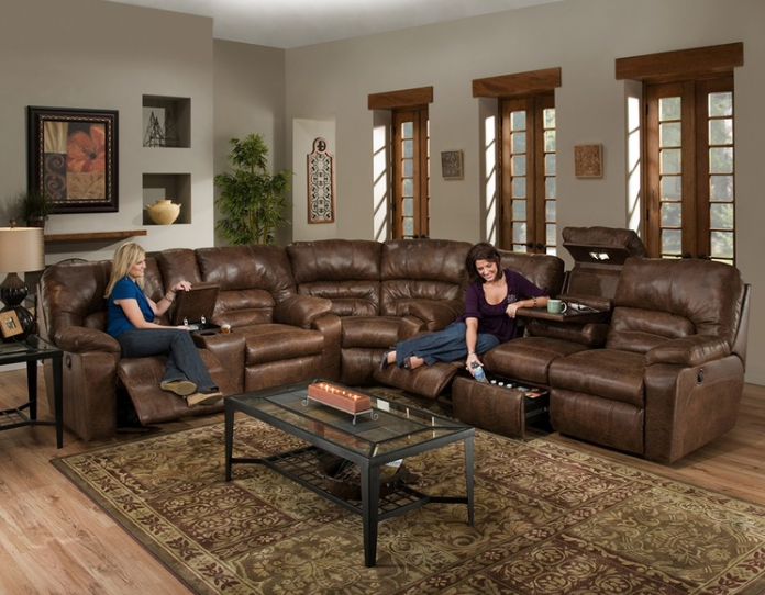 Franklin Dakota $1499.99 Reclining Sofa $999.99 Reclining Loveseat (Shown with sectional wedge)