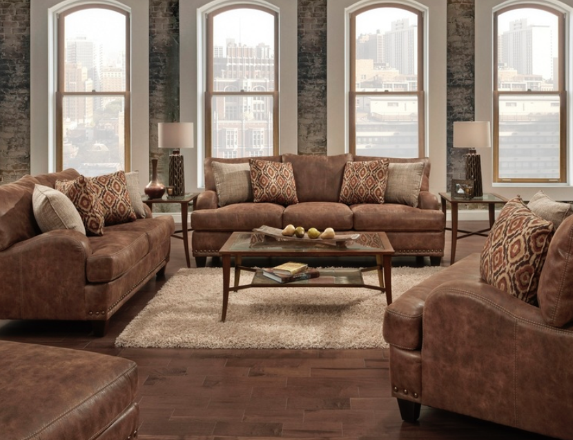 Franklin Indira Vegan Suede $849.99 Sofa $799.99 Loveseat $649.99 Chair-and-a-Half