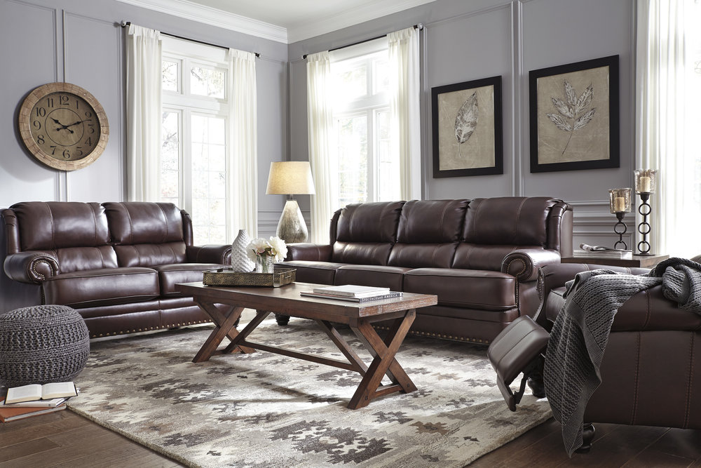 Special Sale Pricing! Ashley Glengary Leather $1299.99 Sofa $1,249.99 Loveseat