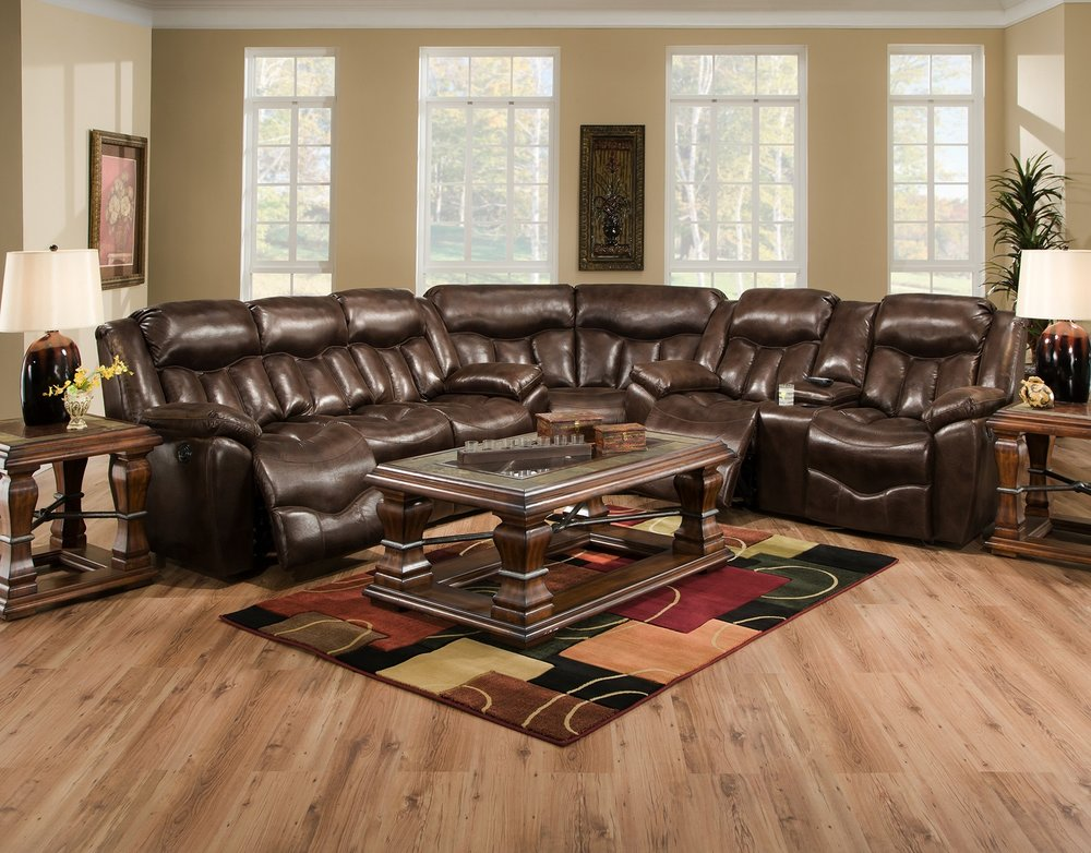 Franklin Hendrix $999.99 Reclining Sofa $949.99 Reclining Loveseat (Shown with sectional wedge)