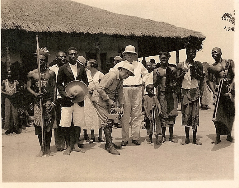 """The reception party at Emungu. Note little drummer boy - ""Yanyi"" Sunshine. Man with big hat to your left is the preacher in charge. H.T.W."""