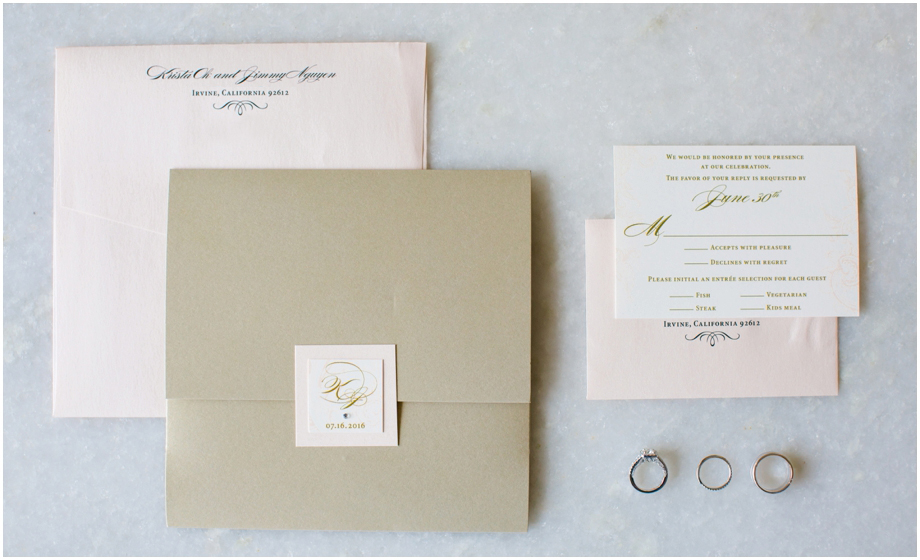St Regis Monarch Beach Wedding - Blush Invitations Jen Simpson Design