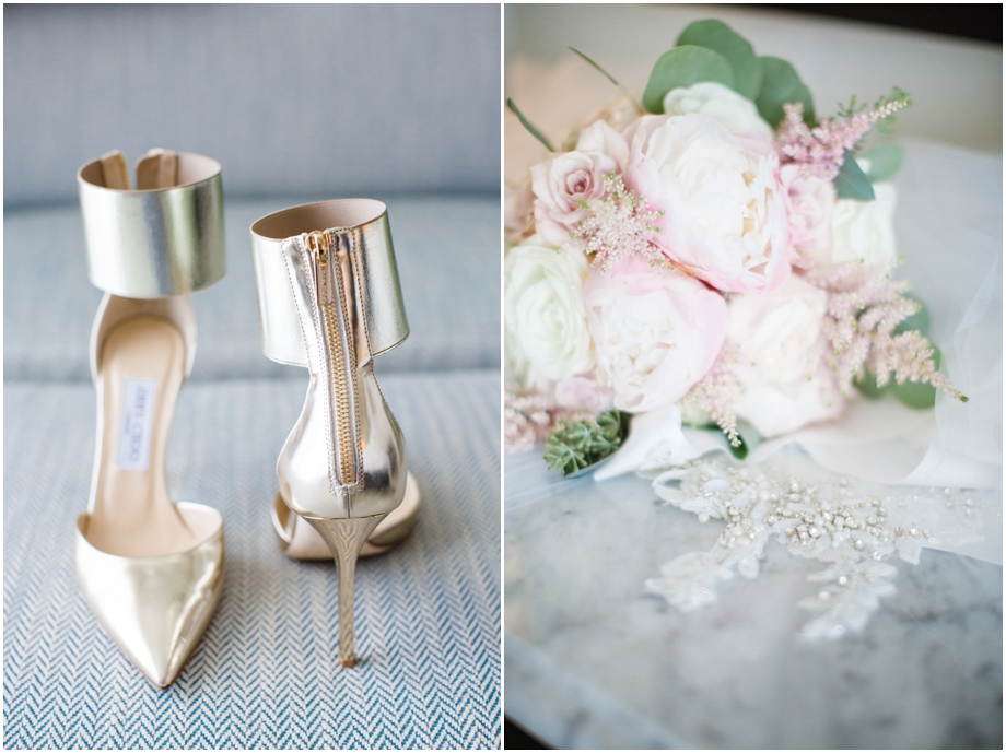 Jimmy Choo Gold Wedding Heels at Monarch Beach Resort