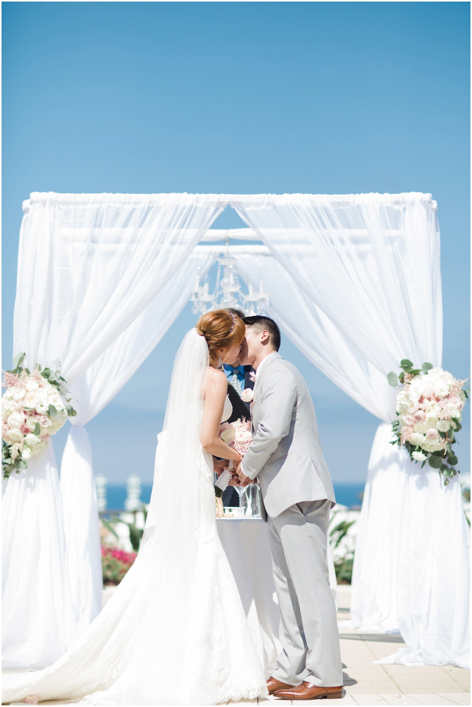 First Kiss at Monarch Beach Dana Point Wedding