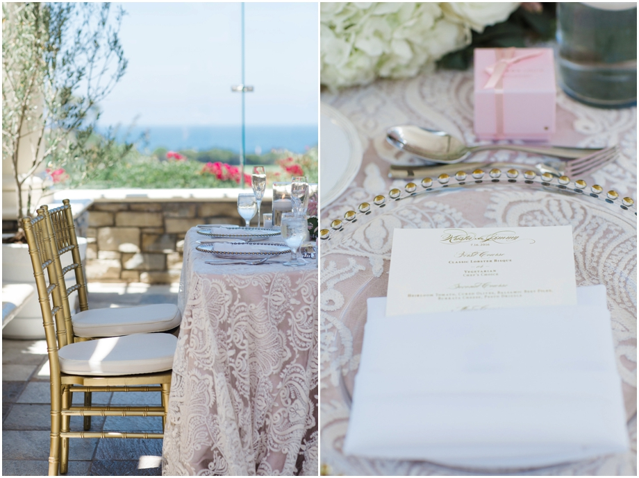 St. Regis Monarch Beach Wedding - Gold Chiavari Chairs - Luxe Linens
