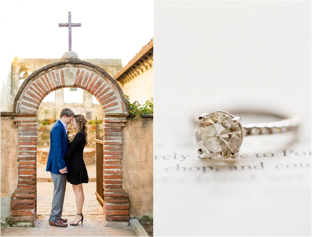 San Juan Mission Engagement Photography