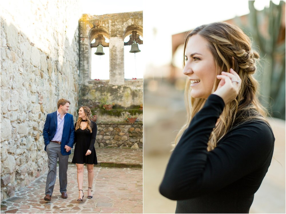 San Juan Mission Engagement Photographer