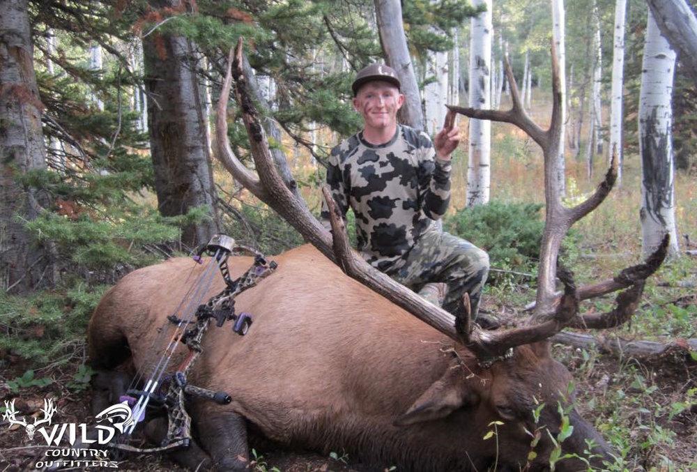 Utah bull elk hunt Archery Mckinze SIms.jpg