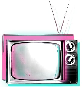 old-TV(pink&Teal)