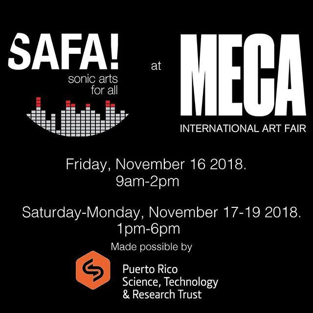 ¡Mira, esté semana! Sonic Arts For All is proud to present four days of music tech educational programming at this year's @mecaartfair , straight from the heart of Viejo San Juan. Get your tickets today at MecaArtFair.com, ¡hasta pronto! #safapuertorico #sonicartsforall . . . . . . #puertorico #music #musictechnology #musictech #children #education #kids #santurce #sanjuan #viejosanjuan #sonicarts #soundart #sound #tech #classroom #musiclessons #learning #musiceducation #techno #housemusic #electronicmusic #electroacoustic #electroacousticmusic #synths #midi