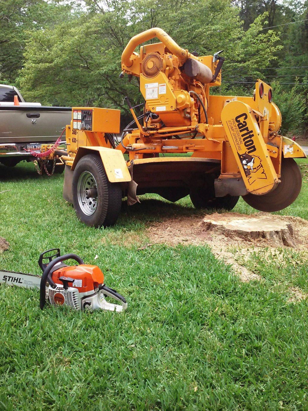 stump grinding in central