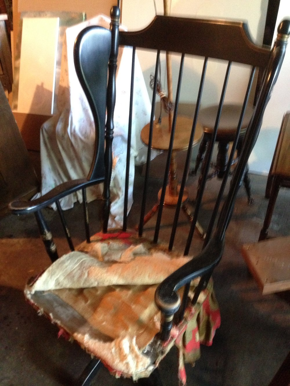 Simple Chair Repair Broken Duncan Phyfe Back With Rocking