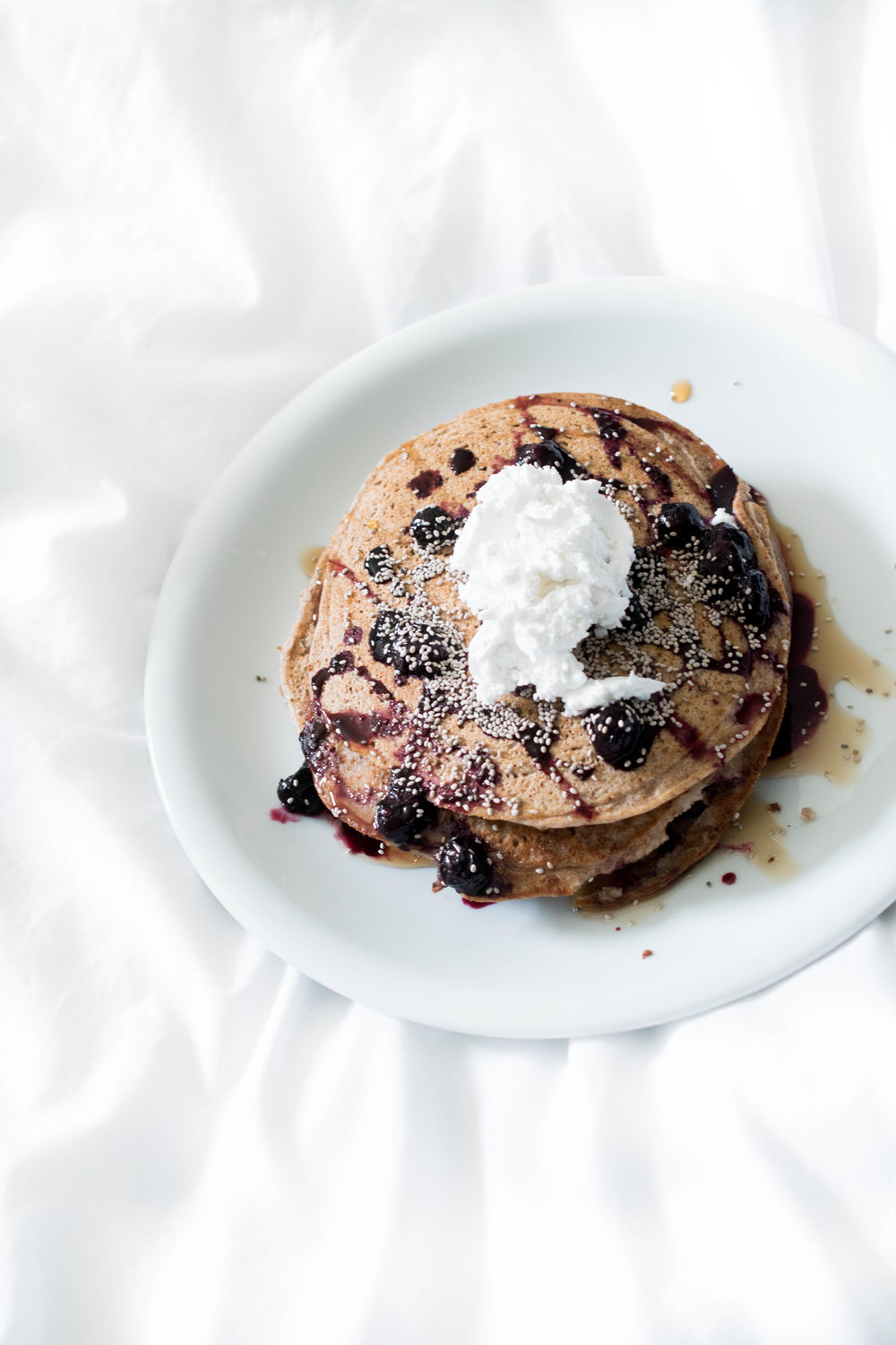 Because Sundays are made for pancakes in bed...