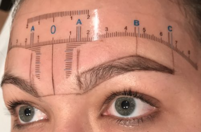 Working out my brow shape & template.