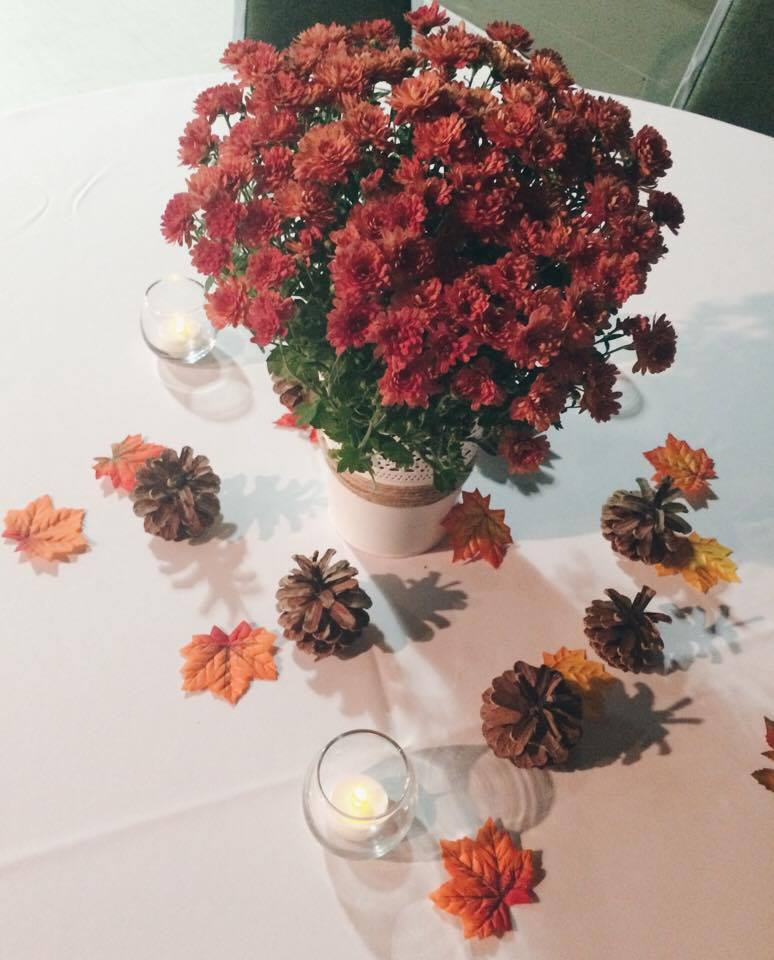 Fall Mums at Reception | Tall Girl Meets World