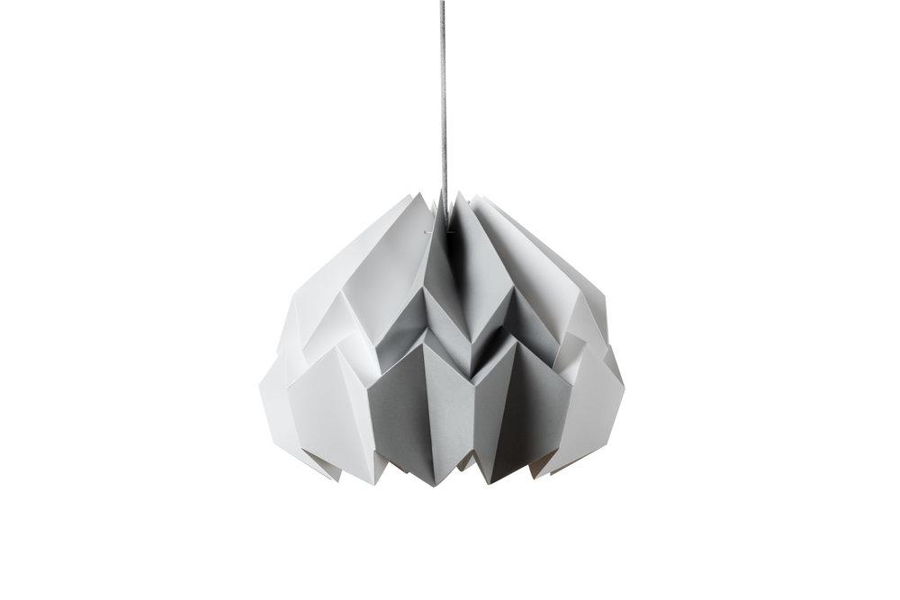 Lotus Shade in White/Gray