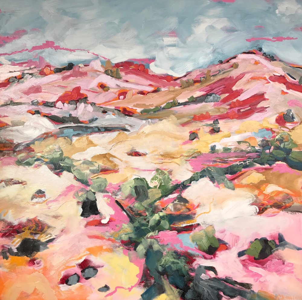 4. Arid Land II, Fowlers Gap, 100x100cm, Oil on board .jpg