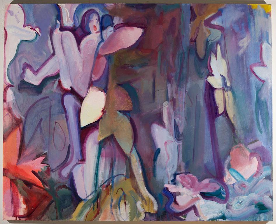 Wallflower , 2015,Oil on canvas, 48 x 60 in