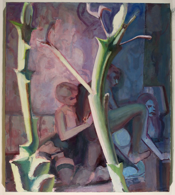 Limbs , 2015,Oil on canvas, 46 x 40 in