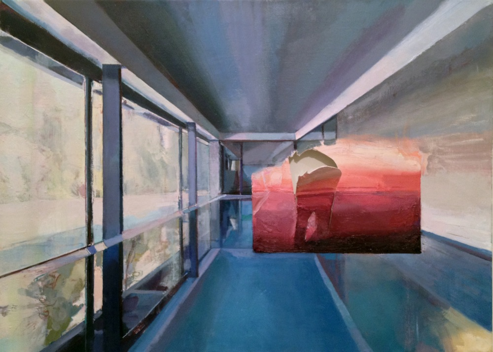 Rich Man's Pool , 2014, Oil on canvas, 34 x 44 in
