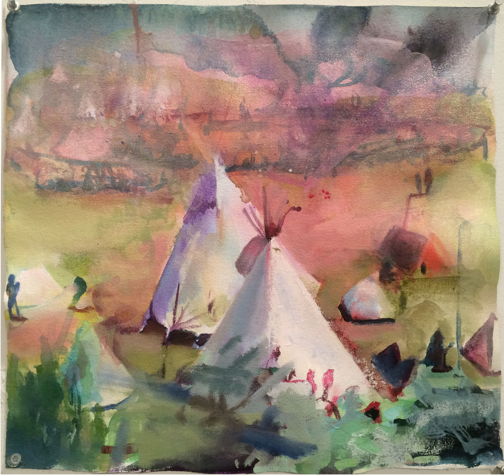Tepee , 2016, Oil on canvas, 16 x 16 in