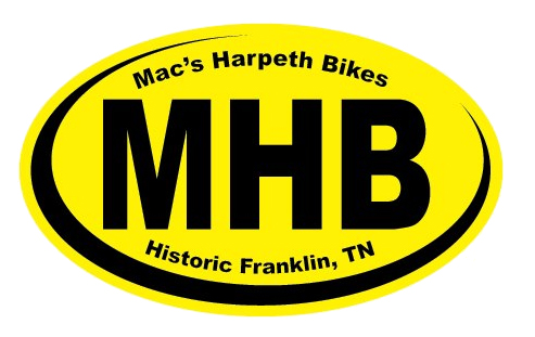 Located near the heart of Historic Downtown Franklin  1110 Hillsboro Rd Franklin, TN 37064  Mon-Fri 10:00am-6:00pm Thurs 10:00am-7:00pm Sat 10:00am-5:00pm      http://www.macsharpethbikes.com/    Mac's Harpeth Bikes on Facebook