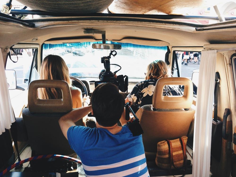 Woodwalk behind the scenes in van