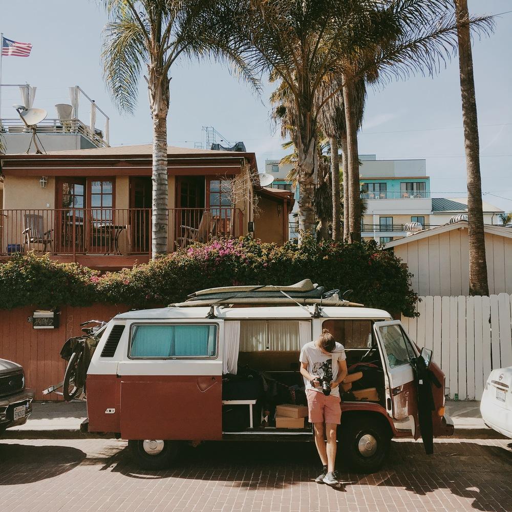 behind the scenes Woodwalk Venice van