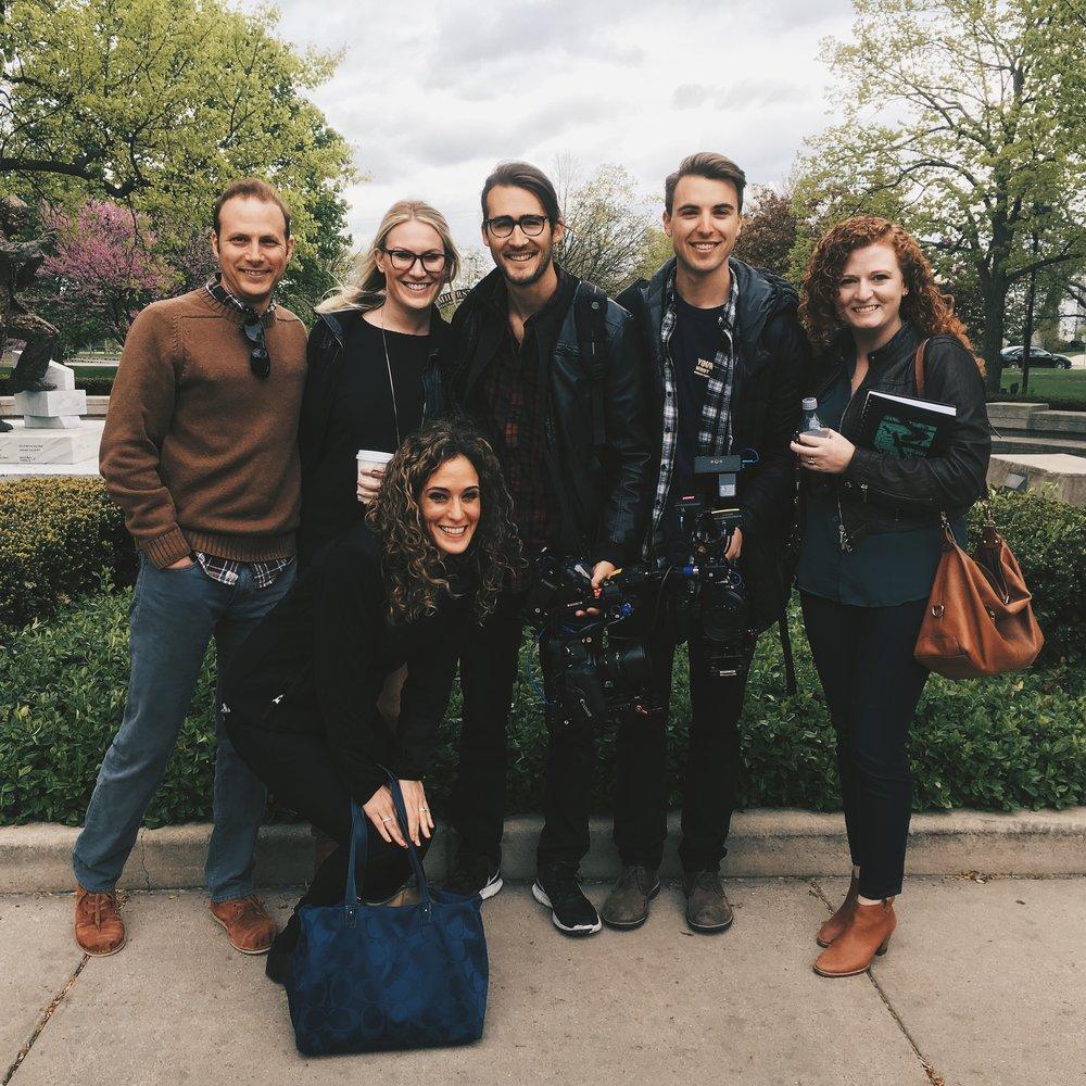 MTV film crew college campus Elmhurst behind the scenes Woodwalk