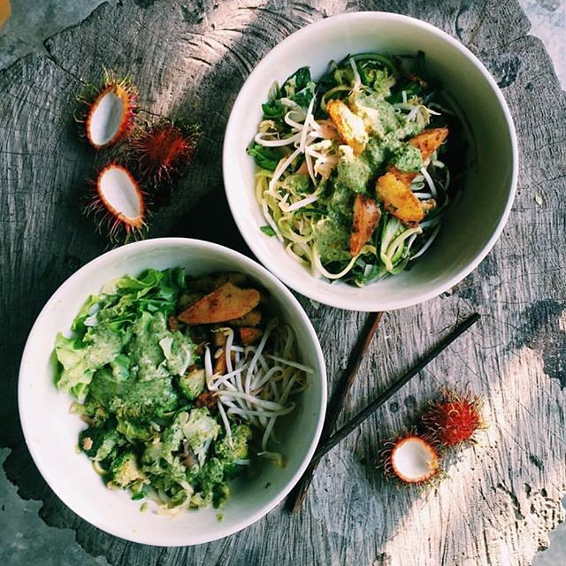 If you haven't had a @temple_foods salad in your face then you haven't lived! Plant based sorcery ready for you at Farewell Winter!