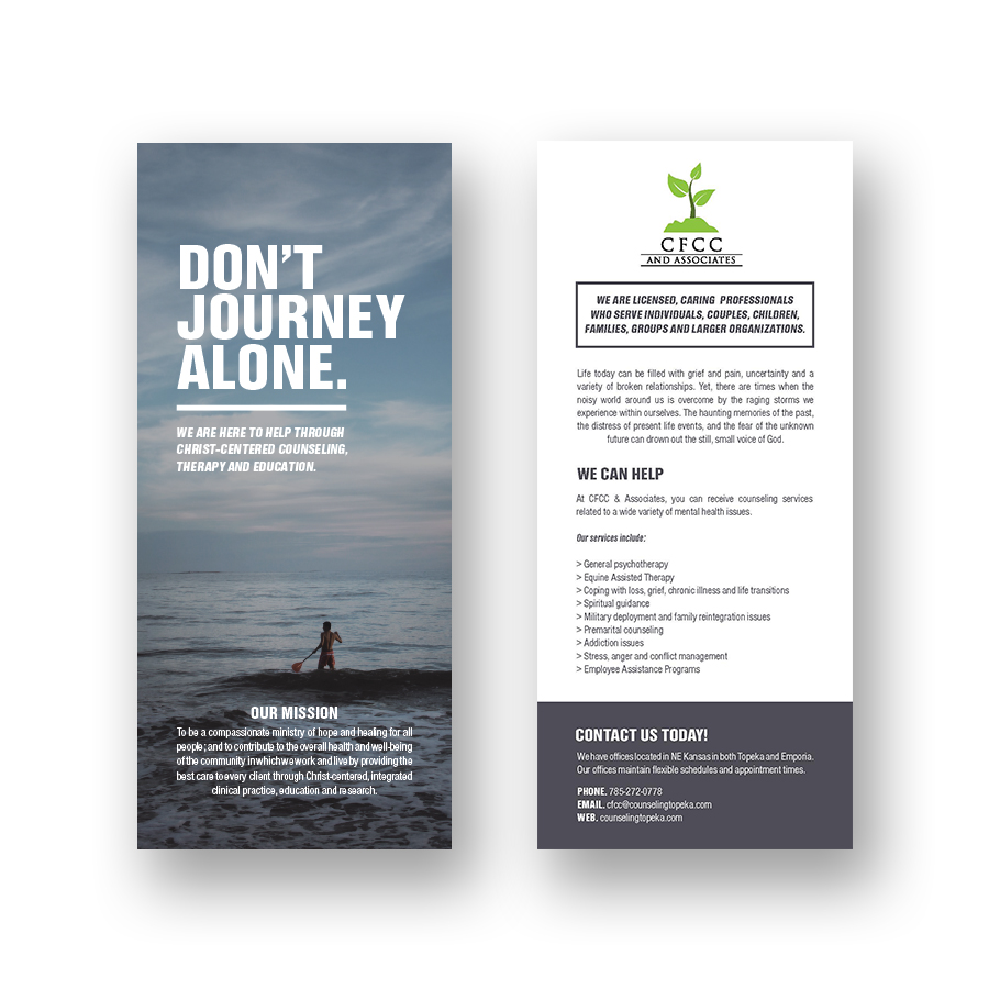 The main flyer and fundraising resource for a counseling office