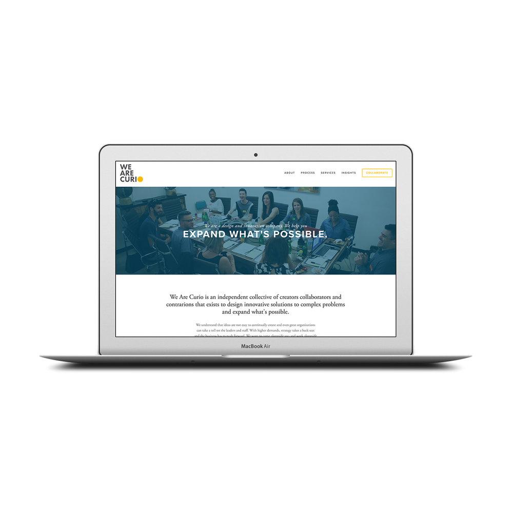 Built the We Are Curio website on a Squarespace platform.