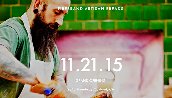 Matt Kreutz of Firebrand Artisan Breads. The company is opening on November 21st.
