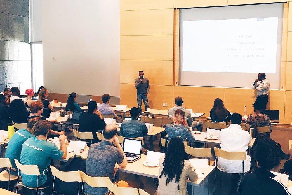 Diisahn Imira speaks to the Growth Strategies class.